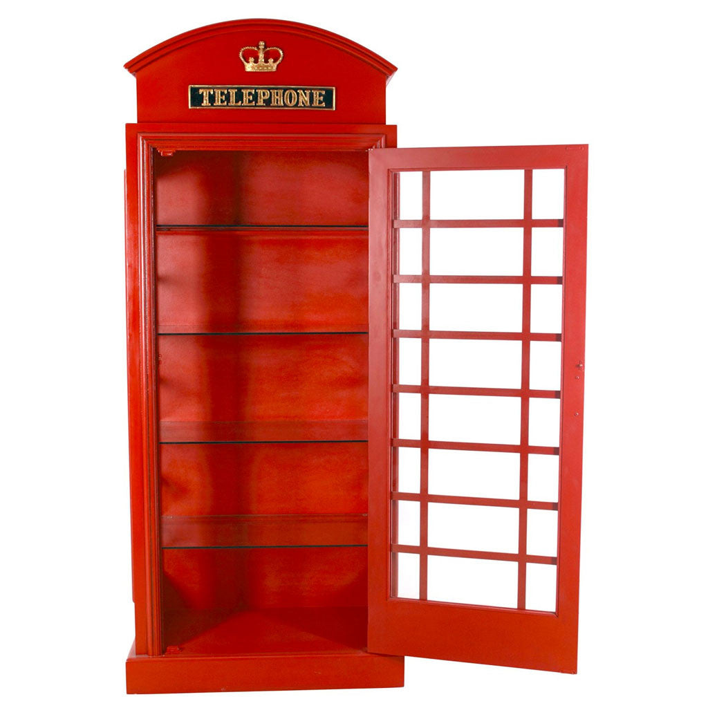 British Red Telephone Booth Cabinet – Little British Shop