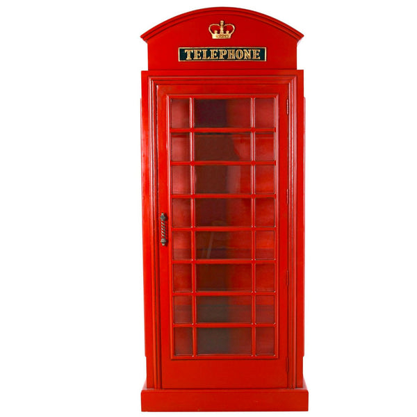 British Red Telephone Booth Cabinet -  -  Little British Shop - 3