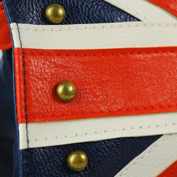 Union Jack Leather Rivet Studded Purse - British Flag -  -  Little British Shop - 3