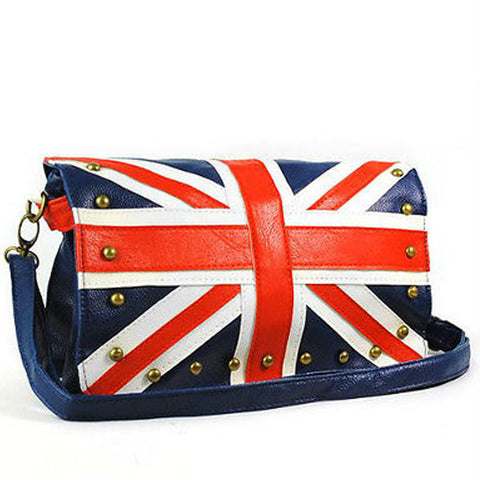 Union Jack Leather Rivet Studded Purse - British Flag -  -  Little British Shop - 1