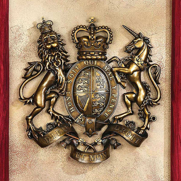 The Royal Coat of Arms of Britain Wall Sculpture -  -  Little British Shop - 1