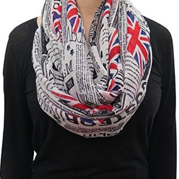 UK Newspaper Style Fashion Scarf Shawl -  -  Little British Shop - 2