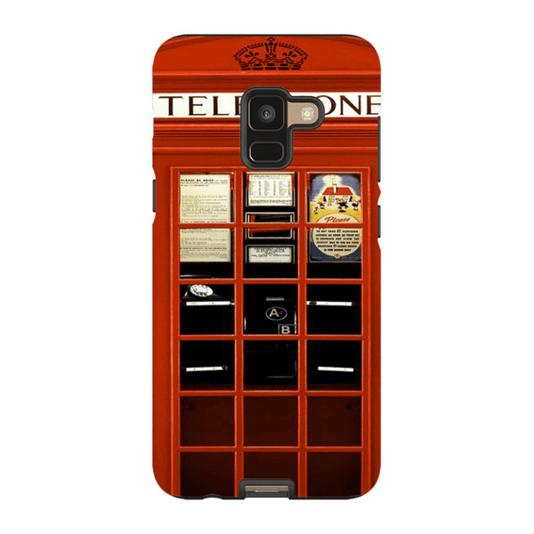 Samsung Galaxy A8-H.M. British Red Telephone Box - Tough Dual Layer Protected Phone Case