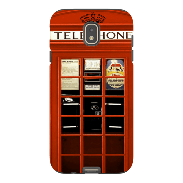 Samsung Galaxy J7 (2017 Model)-H.M. British Red Telephone Box - Tough Dual Layer Protected Phone Case