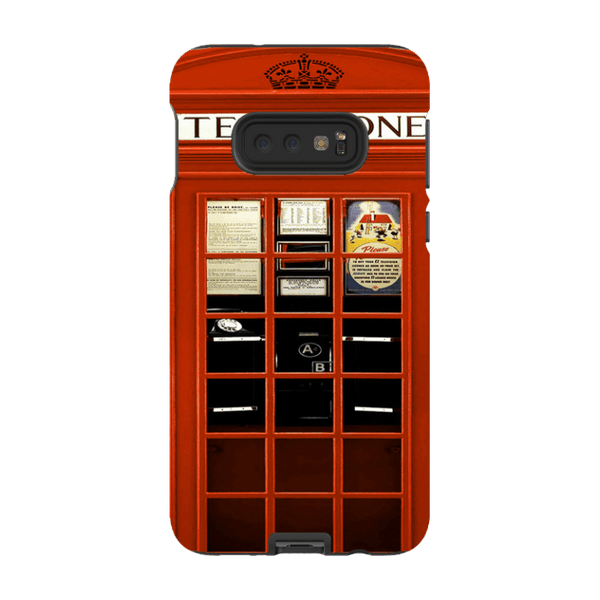 Samsung Galaxy S10 E-H.M. British Red Telephone Box - Tough Dual Layer Protected Phone Case