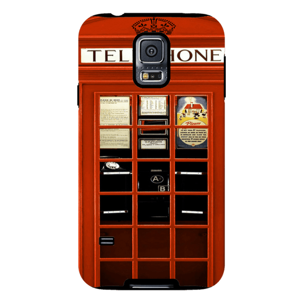 Samsung Galaxy S5-H.M. British Red Telephone Box - Tough Dual Layer Protected Phone Case