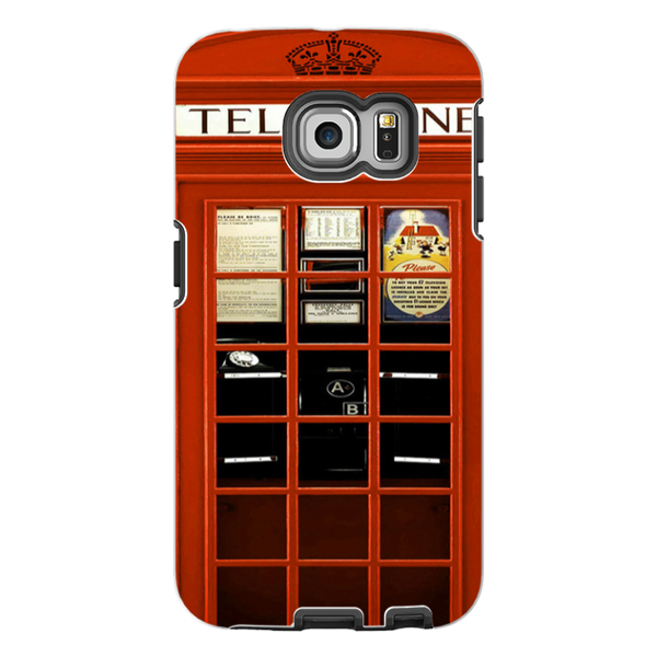 Samsung Galaxy S6 Edge-H.M. British Red Telephone Box - Tough Dual Layer Protected Phone Case