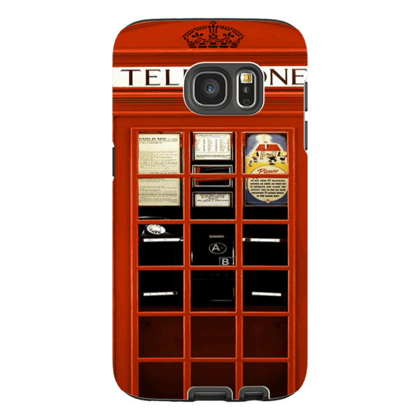 Samsung Galaxy S7-H.M. British Red Telephone Box - Tough Dual Layer Protected Phone Case