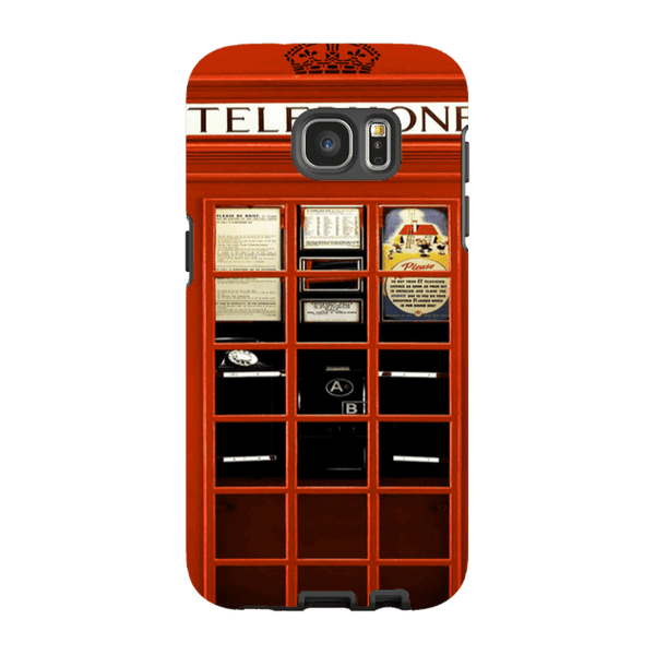 Samsung Galaxy S7 Edge-H.M. British Red Telephone Box - Tough Dual Layer Protected Phone Case