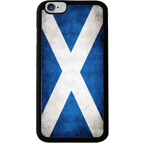 Scottish Saltire Grunge Style Flag - Rubber Phone Case Cover - iPhone 6/6s -  Little British Shop - 1