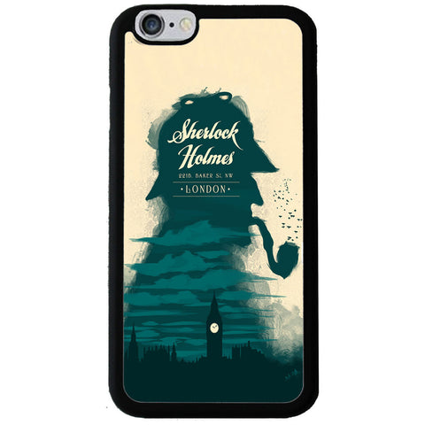 Sherlock Brush Paint Style Rubber Phone Case - iPhone 6/6s -  Little British Shop