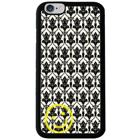 Sherlock Holmes Wallpaper Smiley - Rubber Phone Case -  -  Little British Shop