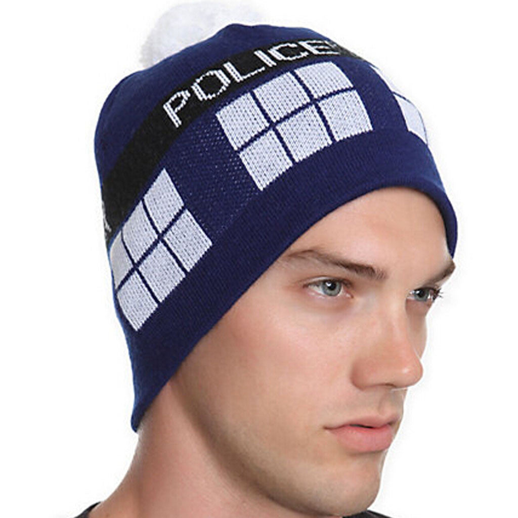 Official BBC Doctor Who Tardis Pom Beanie -  -  Little British Shop - 1