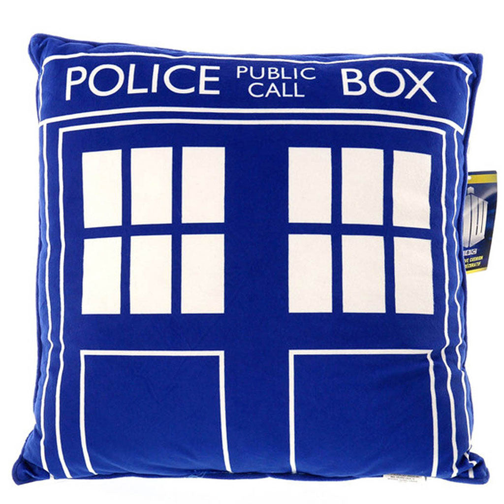 Doctor Who Tardis Square Cushion Pillow -  -  Little British Shop
