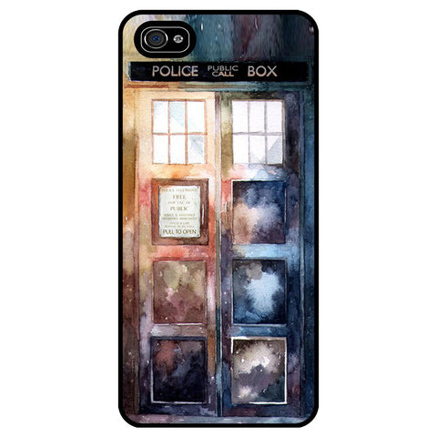 Doctor Tardis Watercolour Edition Rubber Phone Case - Samsung Galaxy S6 -  Little British Shop - 1