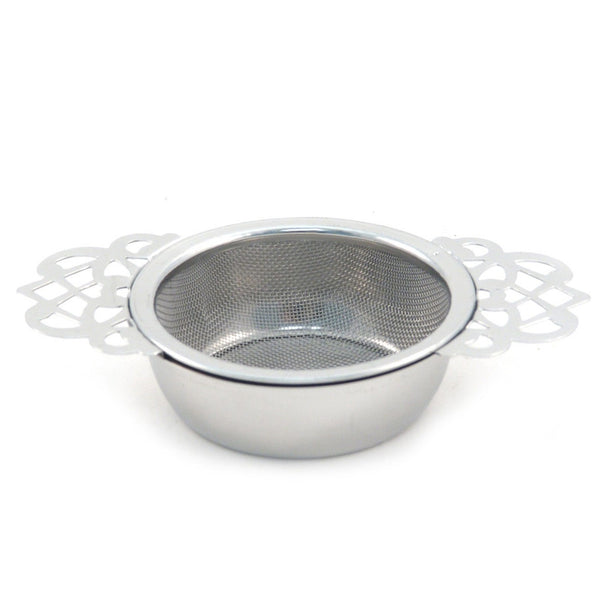 The Empress Tea Strainer With Drip Bowl -  -  Little British Shop
