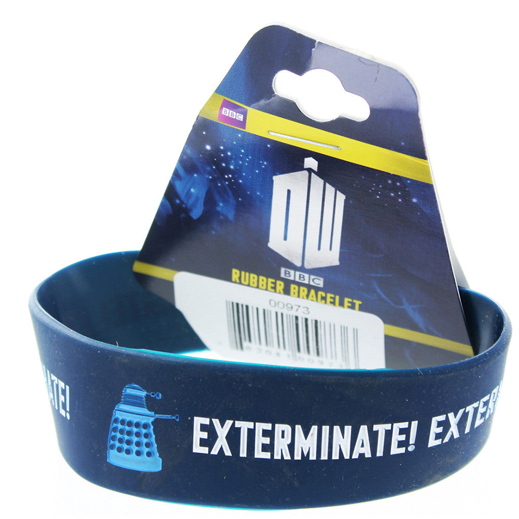 Doctor Who Rubber Wristband Exterminate -  -  Little British Shop