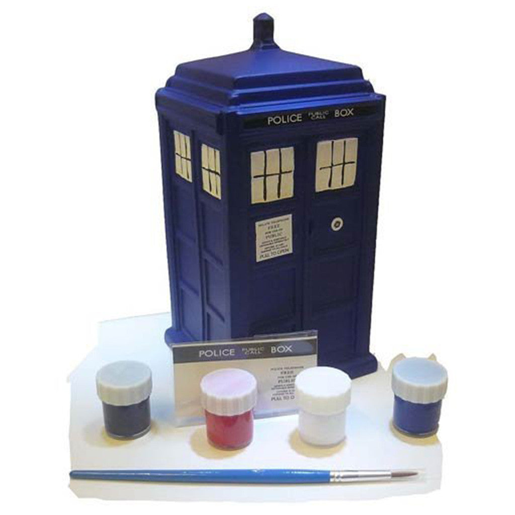 Doctor Who Paint Your Own Ceramic Bank: TARDIS -  -  Little British Shop
