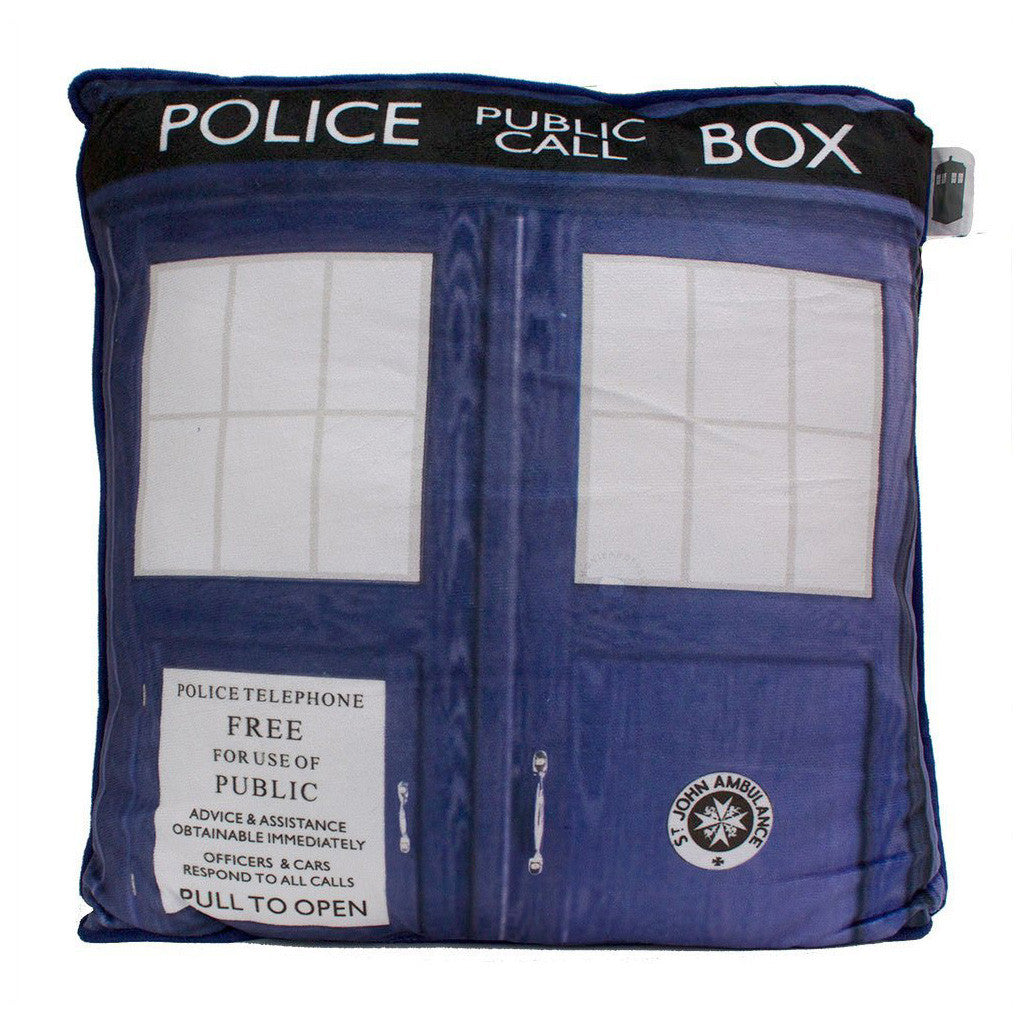 "Doctor Who TARDIS 15"" Cushion -  -  Little British Shop"