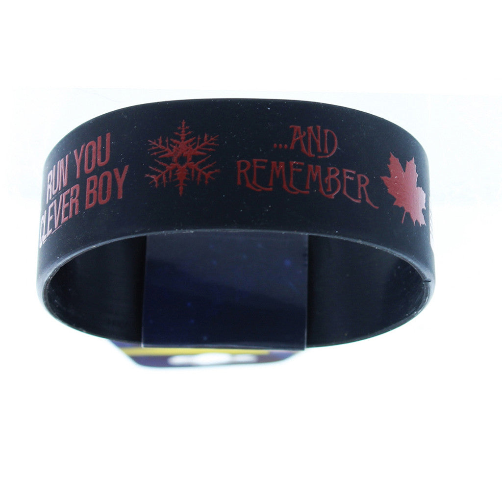 Doctor Who Rubber Wristband Run Clever Boy Run And Remember -  -  Little British Shop