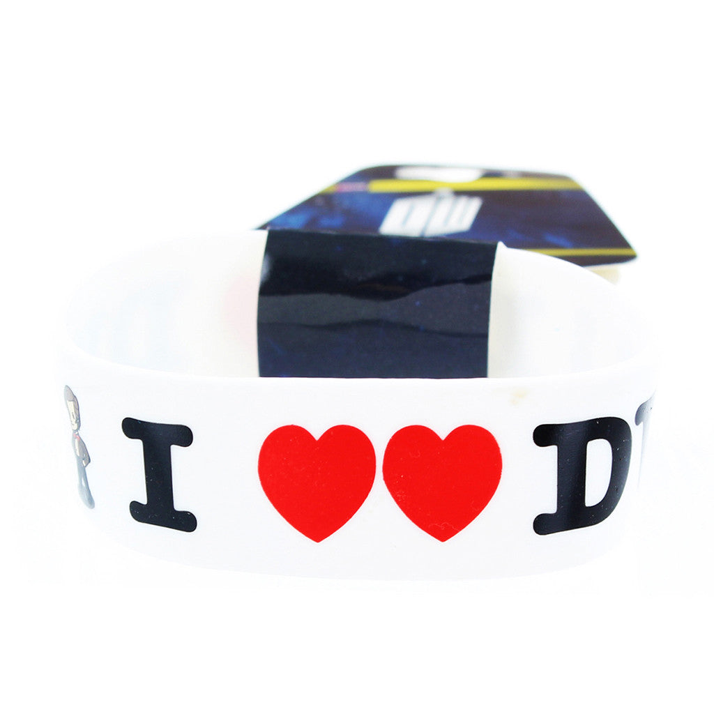 Doctor Who Rubber Wristband I Heart The Doctor -  -  Little British Shop