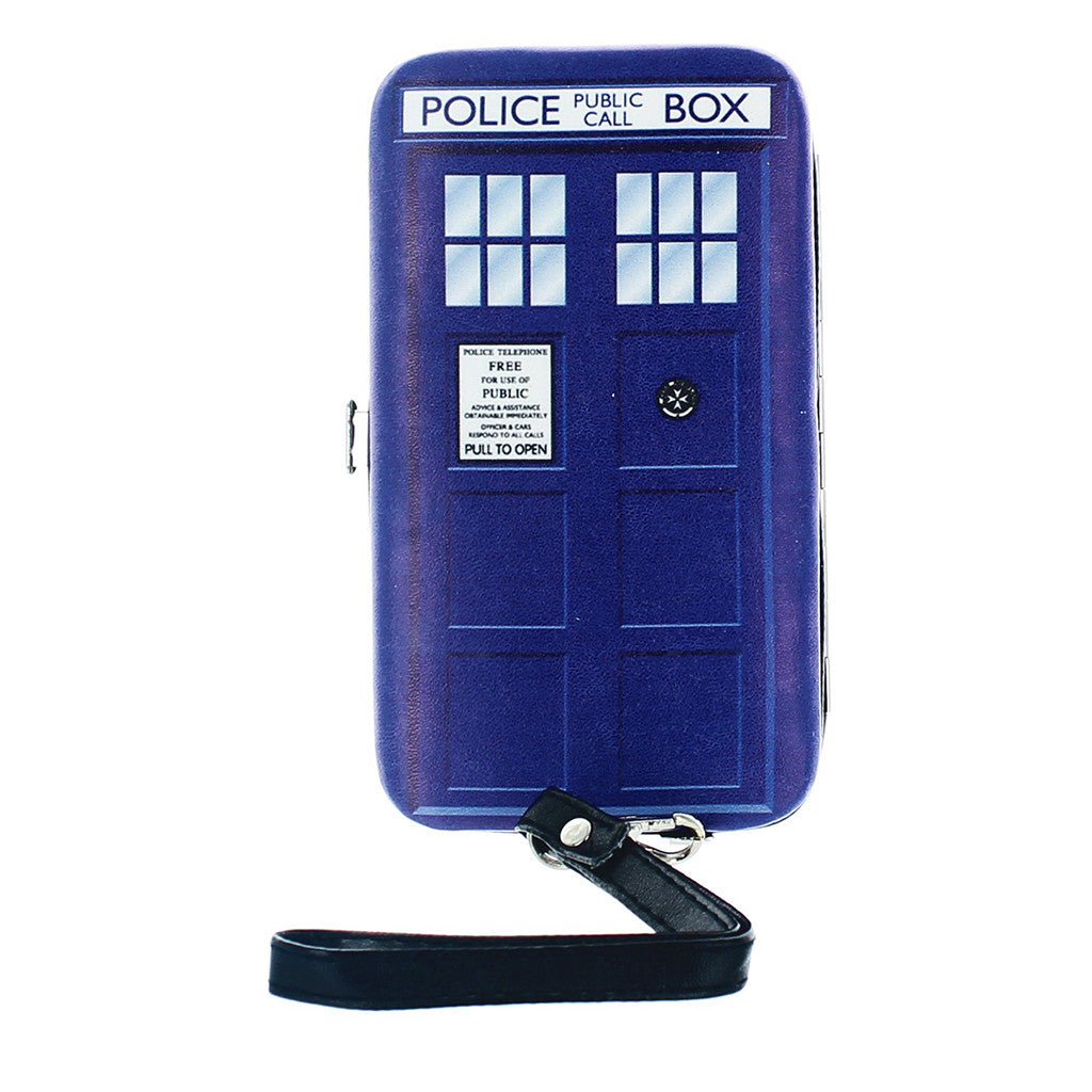 Doctor Who Women's TARDIS Hinged Clutch Purse -  -  Little British Shop
