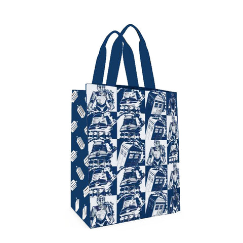Doctor Who Large Tote Bag: Comic Strip Blue (SDCC Exclusive) -  -  Little British Shop