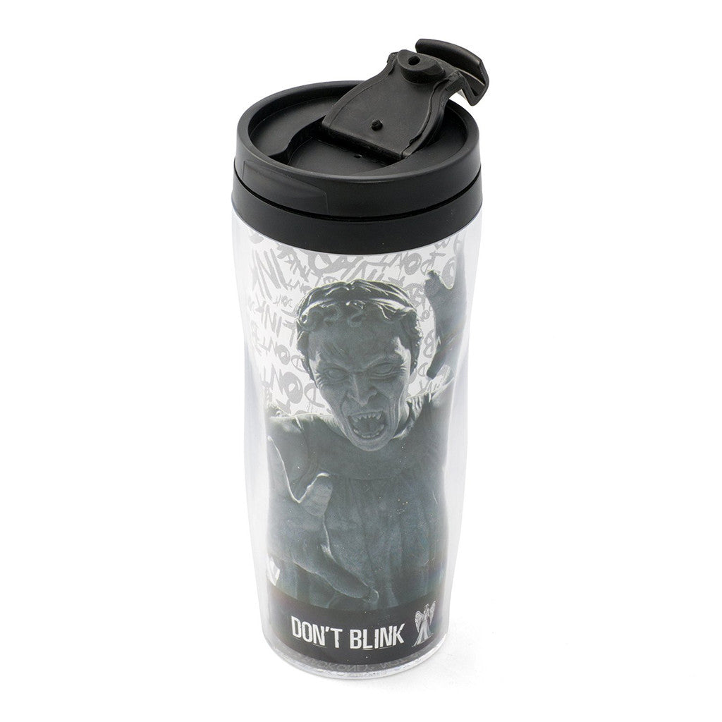 Doctor Who Weeping Angel 12oz Travel Mug -  -  Little British Shop