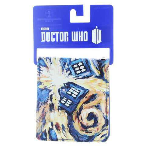 Doctor Who Bi-Fold Wallet Van Gogh Exploding TARDIS -  -  Little British Shop