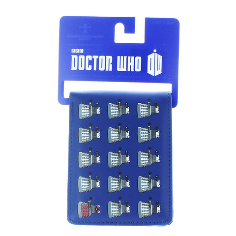 Doctor Who Bi Fold Wallet Dalek Repeat -  -  Little British Shop