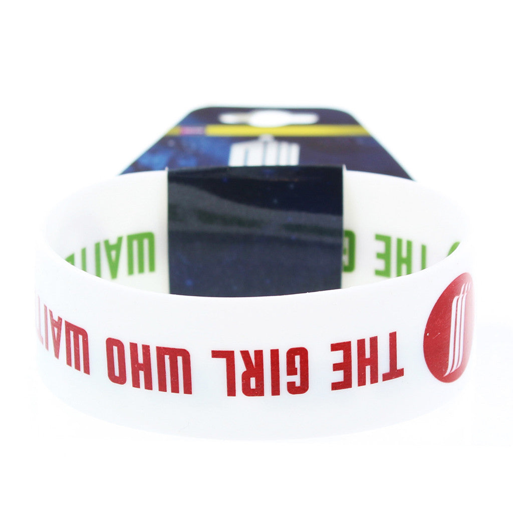 Doctor Who Rubber Wristband The Girl Who Waited -  -  Little British Shop
