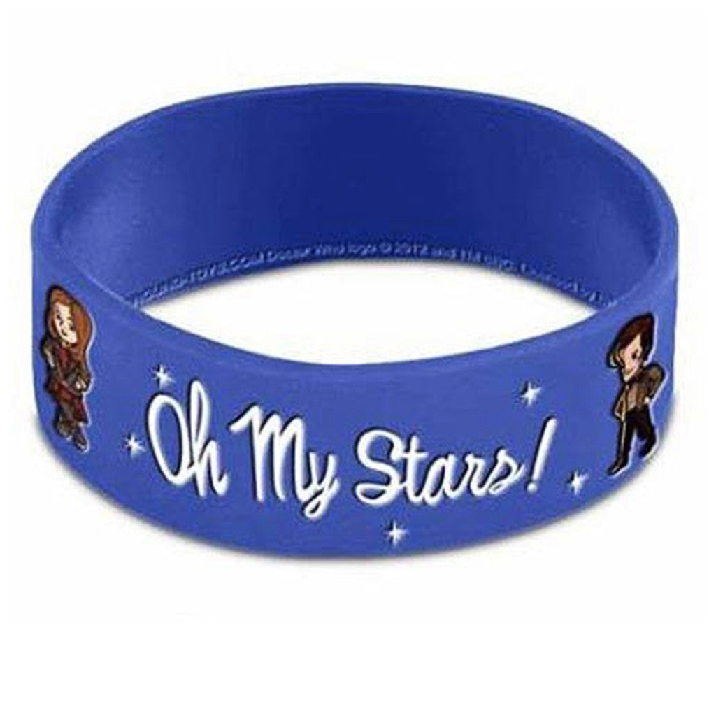 Doctor Who Rubber Wristband Oh My Stars -  -  Little British Shop