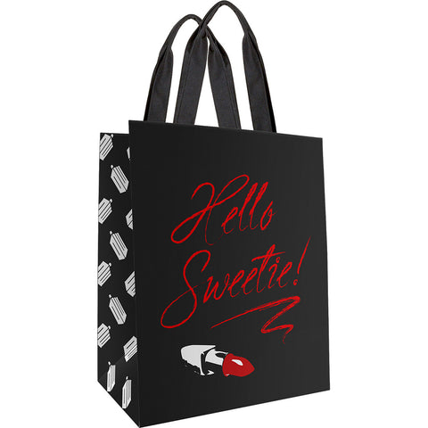 Doctor Who Large Tote Bag Hello Sweetie (Black) -  -  Little British Shop
