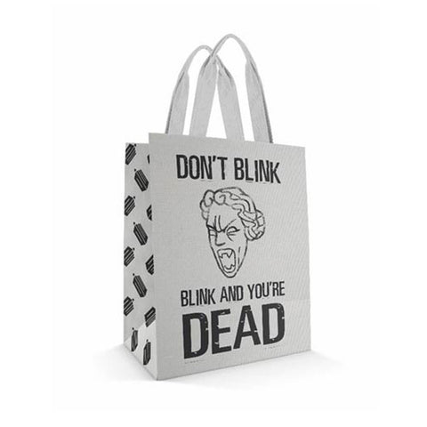 Doctor Who Large Tote Bag: Don't Blink/ Blink And You're Dead -  -  Little British Shop