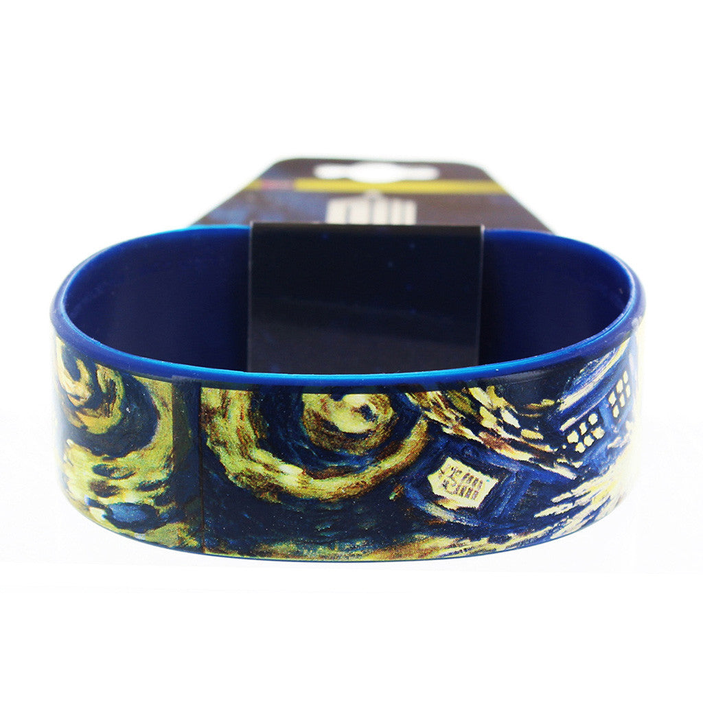 Doctor Who Rubber Wristband Van Gogh Exploding TARDIS -  -  Little British Shop