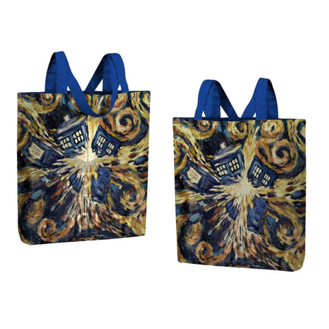 Doctor Who Large Tote Bag Van Gogh Exploding TARDIS -  -  Little British Shop