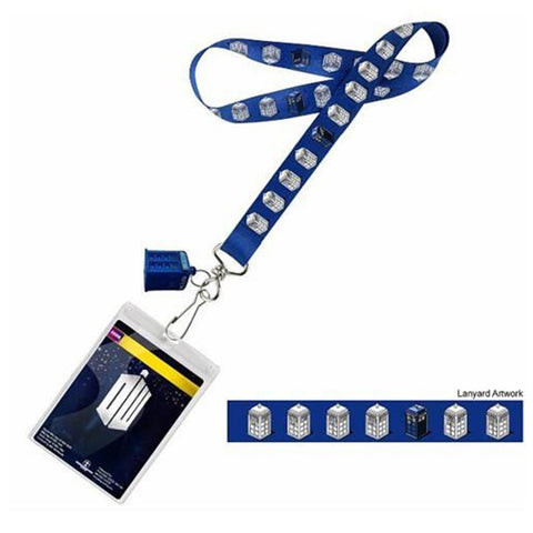 Doctor Who TARDIS Lanyard with 3D TARDIS Charm -  -  Little British Shop