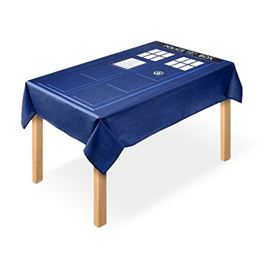 Doctor Who Tablecloth TARDIS Design -  -  Little British Shop