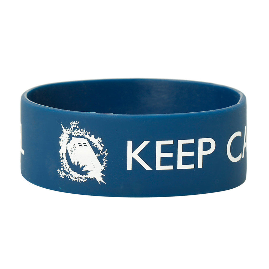Doctor Who Rubber Wristband: Keep Calm and Time Travel -  -  Little British Shop