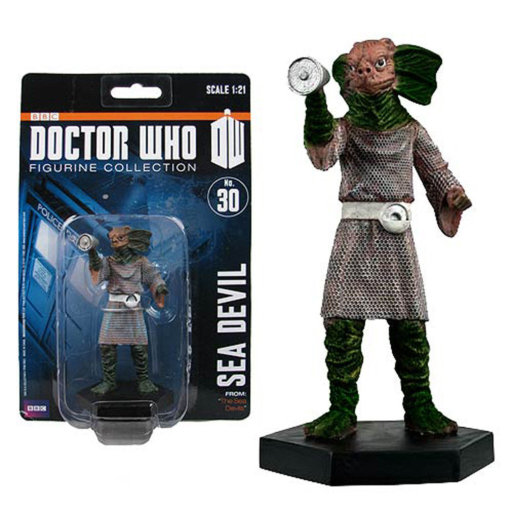 "Doctor Who Sea Devil 4"" Resin Figure -  -  Little British Shop"