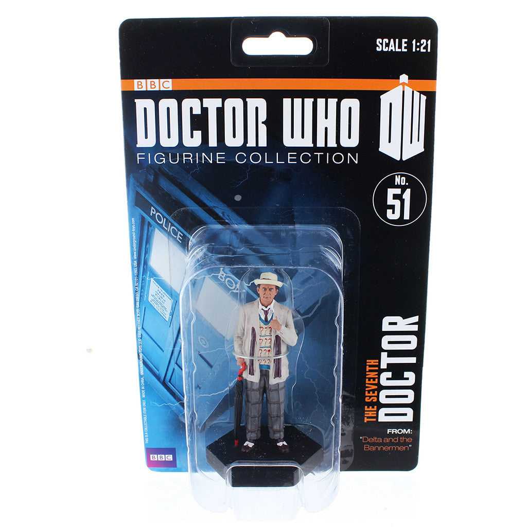 "Doctor Who 4"" Resin Figure: The Seventh Doctor (Delta and the Bannermen) -  -  Little British Shop"