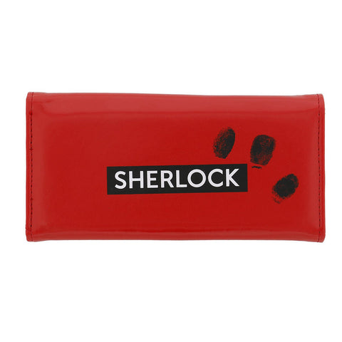 Sherlock Holmes Women's Clutch Wallet: I Am Sher Locked - Red -  Little British Shop - 1