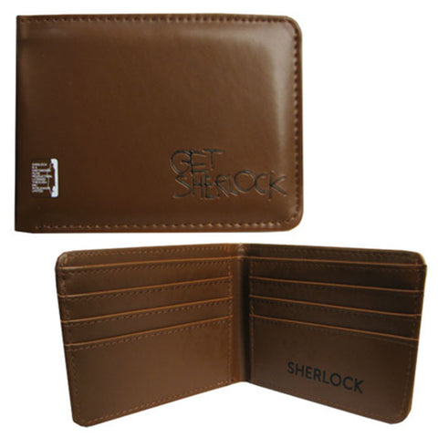 Sherlock Holmes Men's Bi-Fold Wallet: Get Sherlock - Brown -  Little British Shop - 1