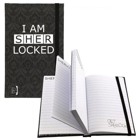 "Sherlock Holmes 3.5"" x 5.5"" Mini Journal I Am Sher Locked -  -  Little British Shop"