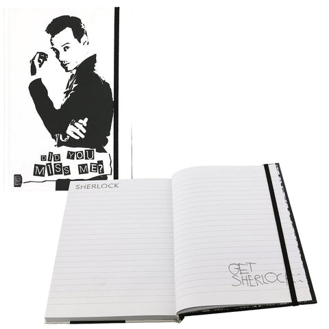 "Sherlock Holmes 6"" x 8.5"" Large Journal Moriarty ""Did You Miss Me?"" -  -  Little British Shop"