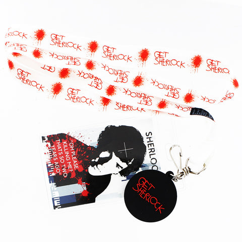 "Sherlock Holmes Lanyard: ""Killing Me"" with Get Sherlock Charm -  -  Little British Shop"