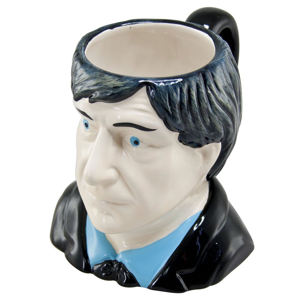Doctor Who 2nd Doctor Patrick Troughton Ceramic 3D Toby Jug Mug -  -  Little British Shop