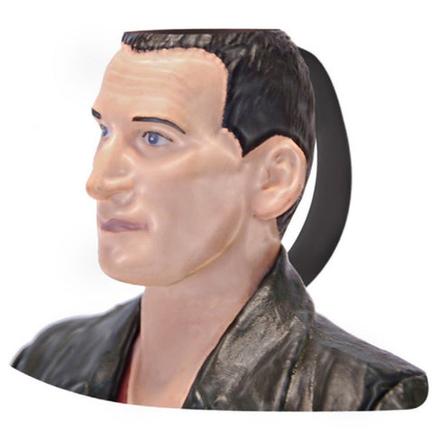 Doctor Who 9th Doctor Christopher Eccleston Ceramic 3D Toby Jug Mug -  -  Little British Shop