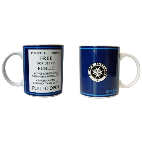 Doctor Who Tardis Police Telephone Ceramic Coffee Mug -  -  Little British Shop