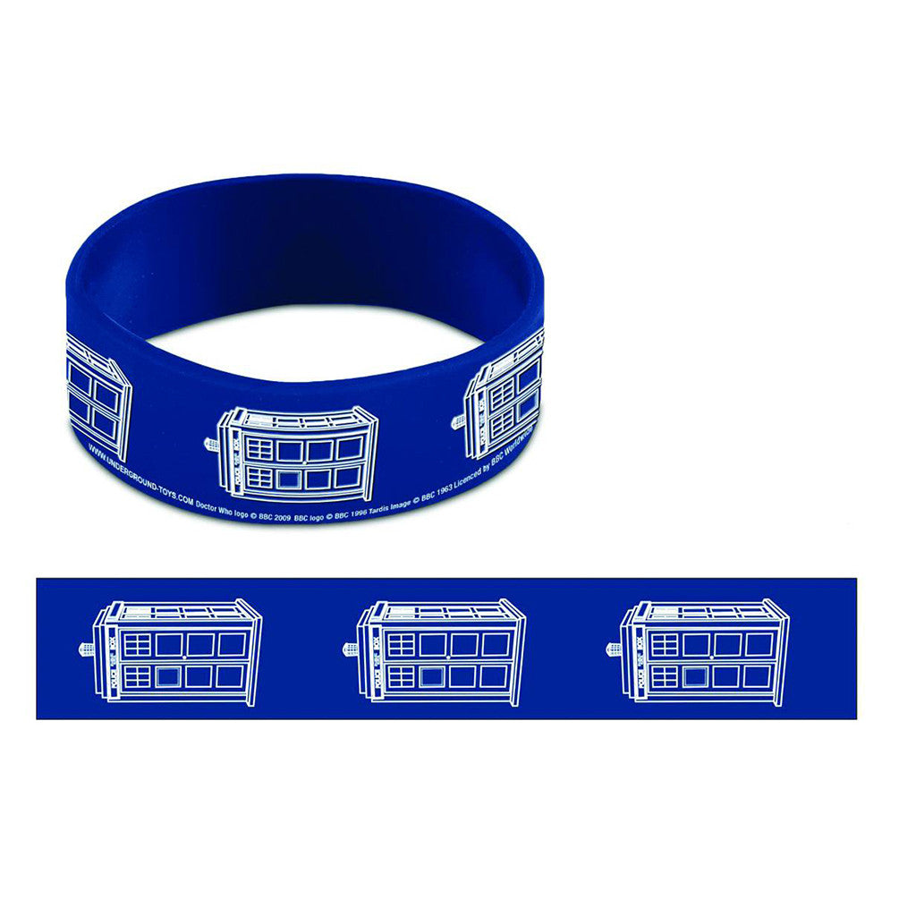 Doctor Who Tardis Rubber Wristband -  -  Little British Shop